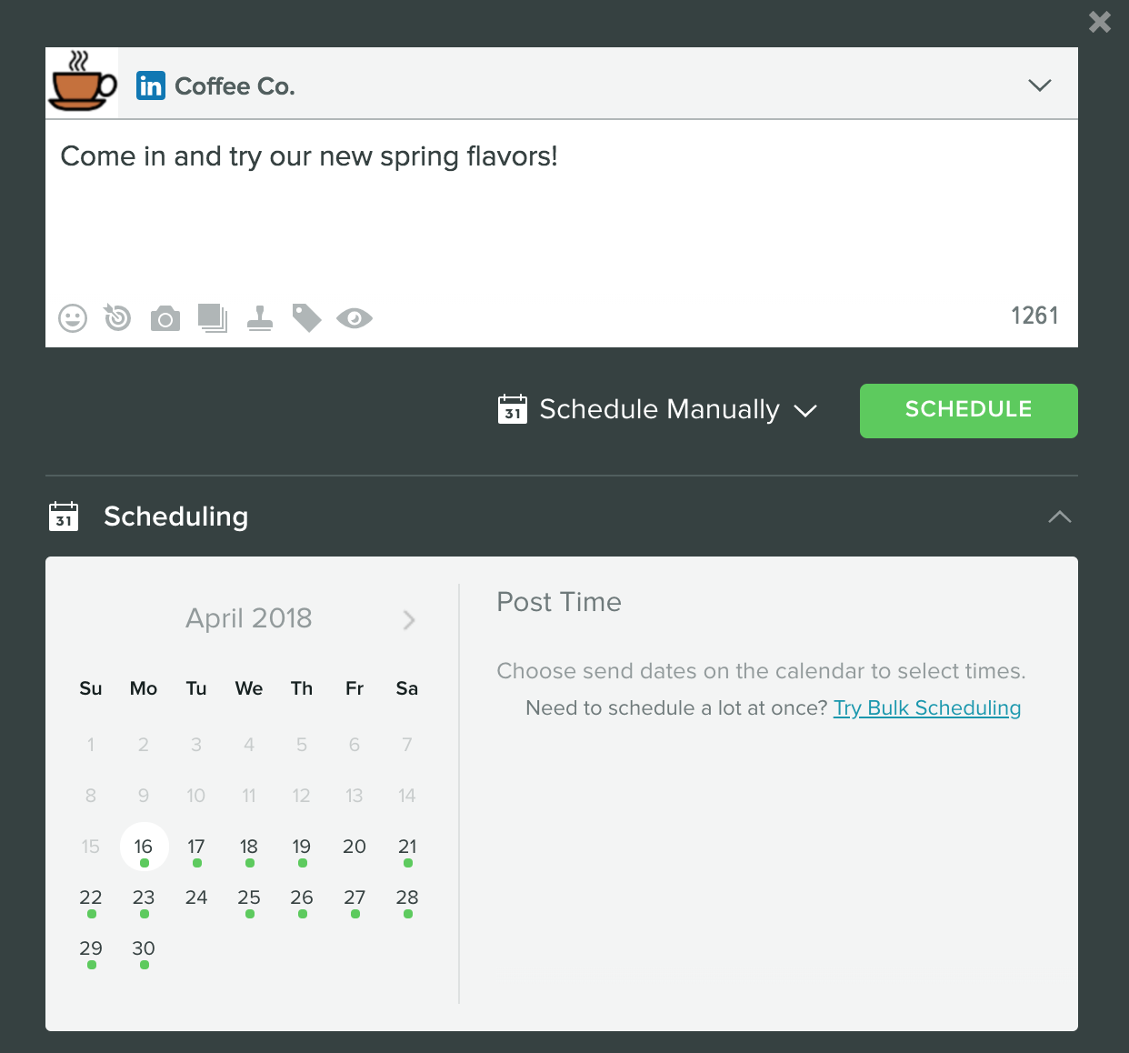 Bulk Scheduling – Sprout Social Support