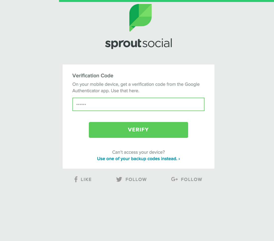 Two-Step Verification – Sprout Social Support